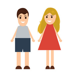 Funny cartoon man and woman vector