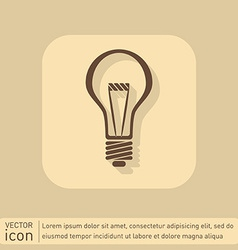 lightbulb character ideas incandescent lamp icon vector image