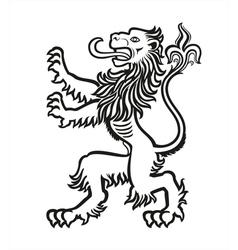 Lion heraldic stylized 01 vector