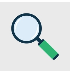 Magnifier Flat Icon vector image vector image