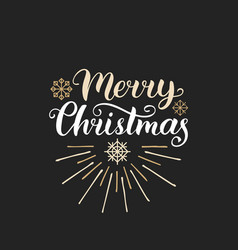Merry christmas lettering with new year vector
