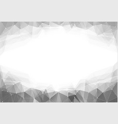 monochrome triangle vector image vector image
