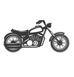 Motorbike isolated on white background design vector
