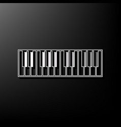 Piano keyboard sign gray 3d printed icon vector