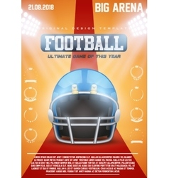 Poster template of american football helmet vector