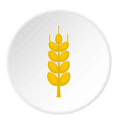 Ripe spike icon circle vector