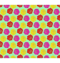 Roses seamless pattern vector image vector image