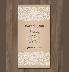 save the date card wedding invitation template vector image vector image