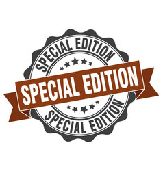 special edition stamp sign seal vector image vector image
