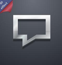 Speech bubble Think cloud icon symbol 3D style vector image