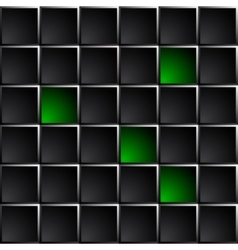 Technological dark background polished black and vector image vector image