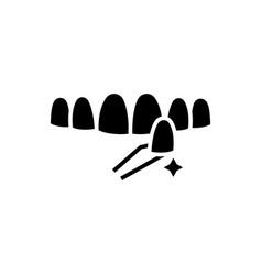 Teeth false icon black sign vector