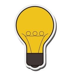 regular lightbulb icon vector image