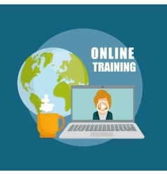 Online training design education concept vector