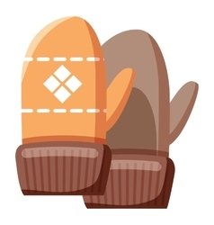 Mittens icon cartoon style vector image
