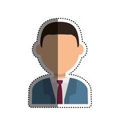 Business executive profile vector
