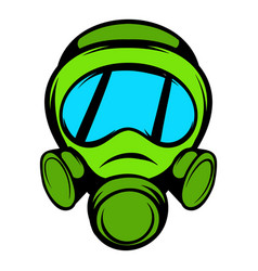 gas mask icon icon cartoon vector image