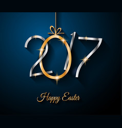 Happy 2017 easter modern and elegant background vector