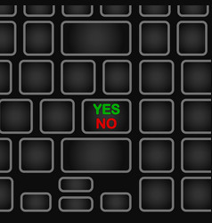 Simplified keyboard with one word only black vector