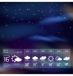 Transparent weather widget vector
