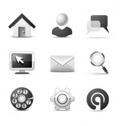 Web icons  bw series vector