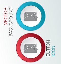 Postal envelope vector