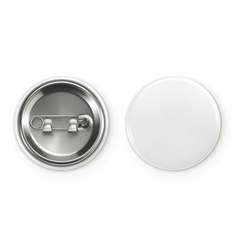 Blank white badge realistic vector