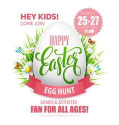 Easter egg hunt poster vector