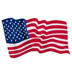 Political waving flag of united states vector