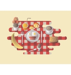 Breakfast design flat vector