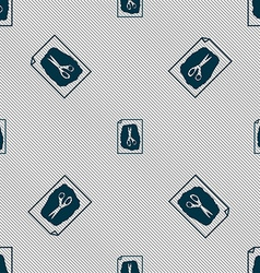 Rock scissors paper poster icon sign seamless vector