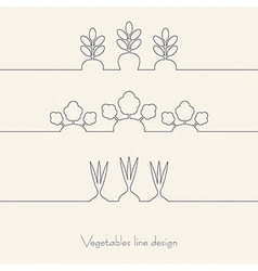 Vegetables line design vector