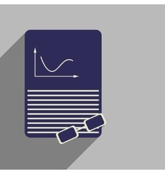 Flat web icon with long shadow economic document vector