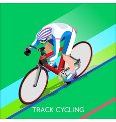 Cycling Track 2016 Summer Games 3D Isometric vector image
