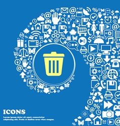 Bin icon nice set of beautiful icons twisted vector