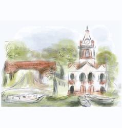 abaetetuba city brazil vector image