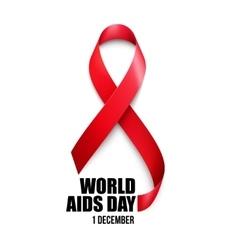 Aids Awareness World Aids Day concept vector image vector image