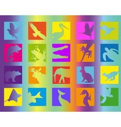 animal icon color vector image vector image
