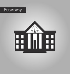 black and white style icon courthouse vector image