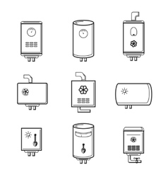 boiler icons set vector image