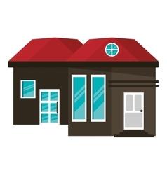 Cartoon family house exterior concept vector