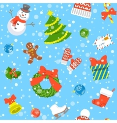 Christmas holiday seamless background pattern vector image vector image