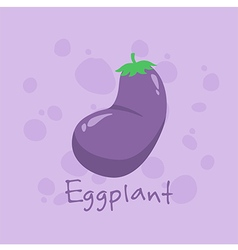 Eggplant vegetable vector
