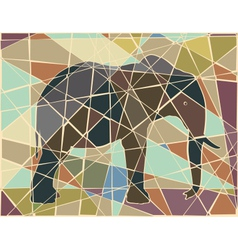 Elephant mosaic vector image vector image