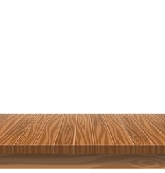 Empty wooden table in a sun drenched summer garden vector image vector image