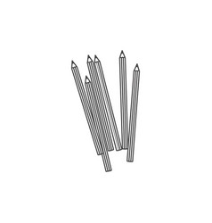 Figure pencils color icon vector