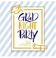 Grad night party hand lettering vector