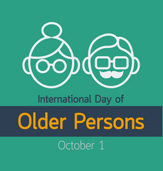 International day of older persons icon vector