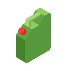 Jerrycan oil isometric 3d icon vector