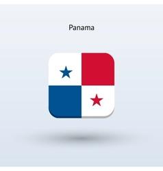 Panama flag icon vector